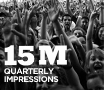 5 million quarterly impressions